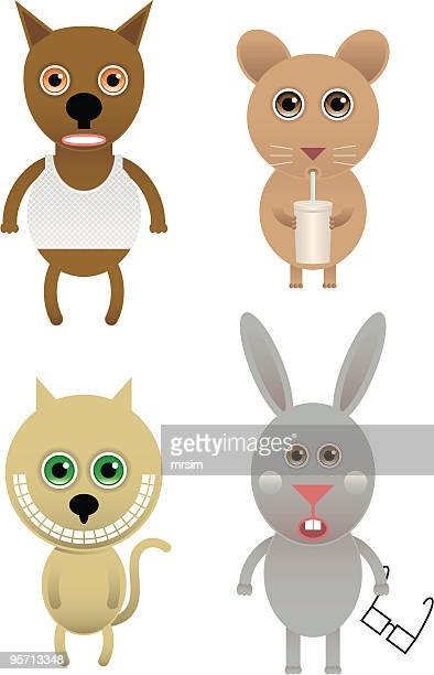 かわいい動物のベクトルクワーキー - clip art点のイラスト素材/クリップアート素材/マンガ素材/アイコン素材