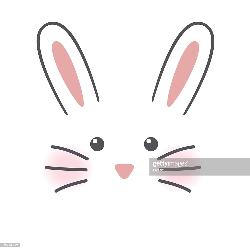 Cute rabbit face