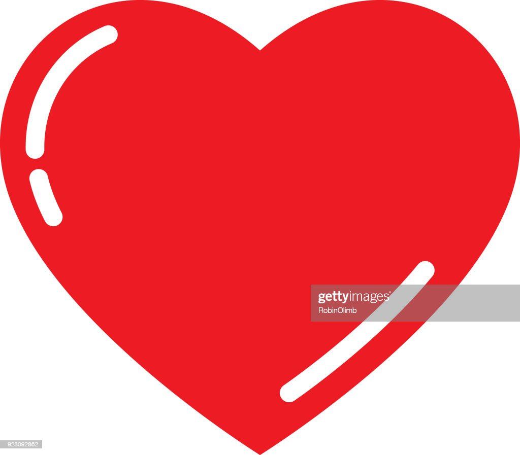 Cute Red Heart : stock illustration