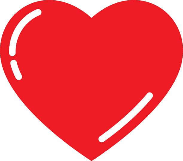 cute red heart - heart shape stock illustrations