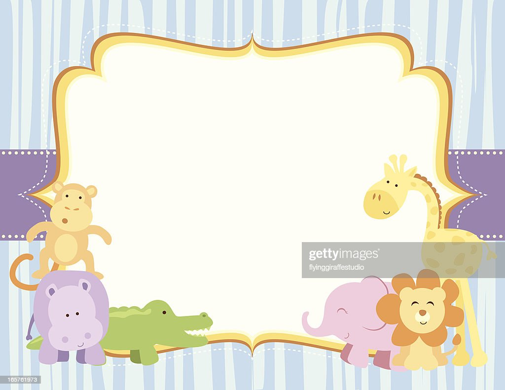Cute Safari Animals Frame Vector Art | Getty Images