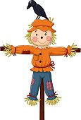 Cute scarecrow cartoon