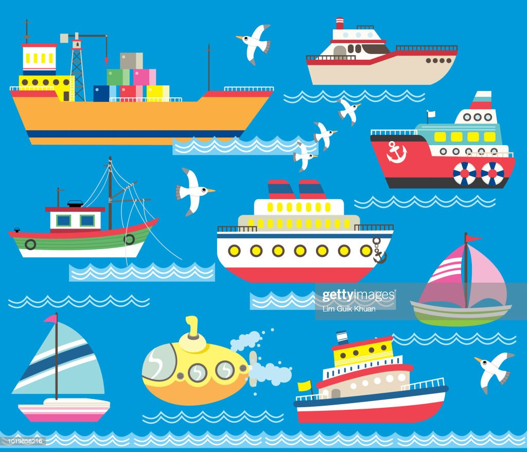 Cute Sea Transportation Collection
