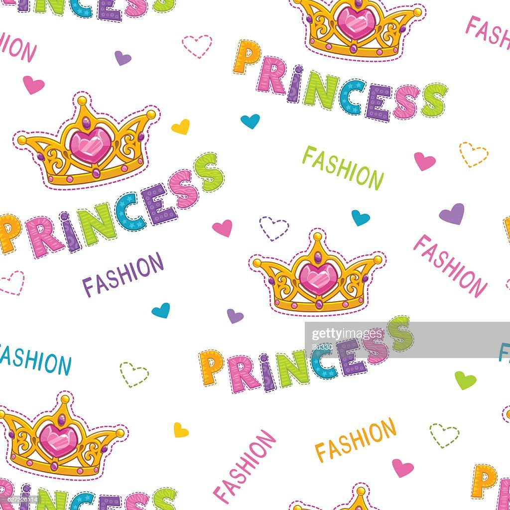 Cute seamless pattern for baby girls.
