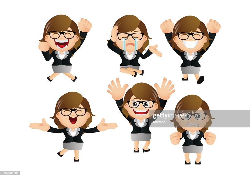 Cute Set - Set of businesswoman character