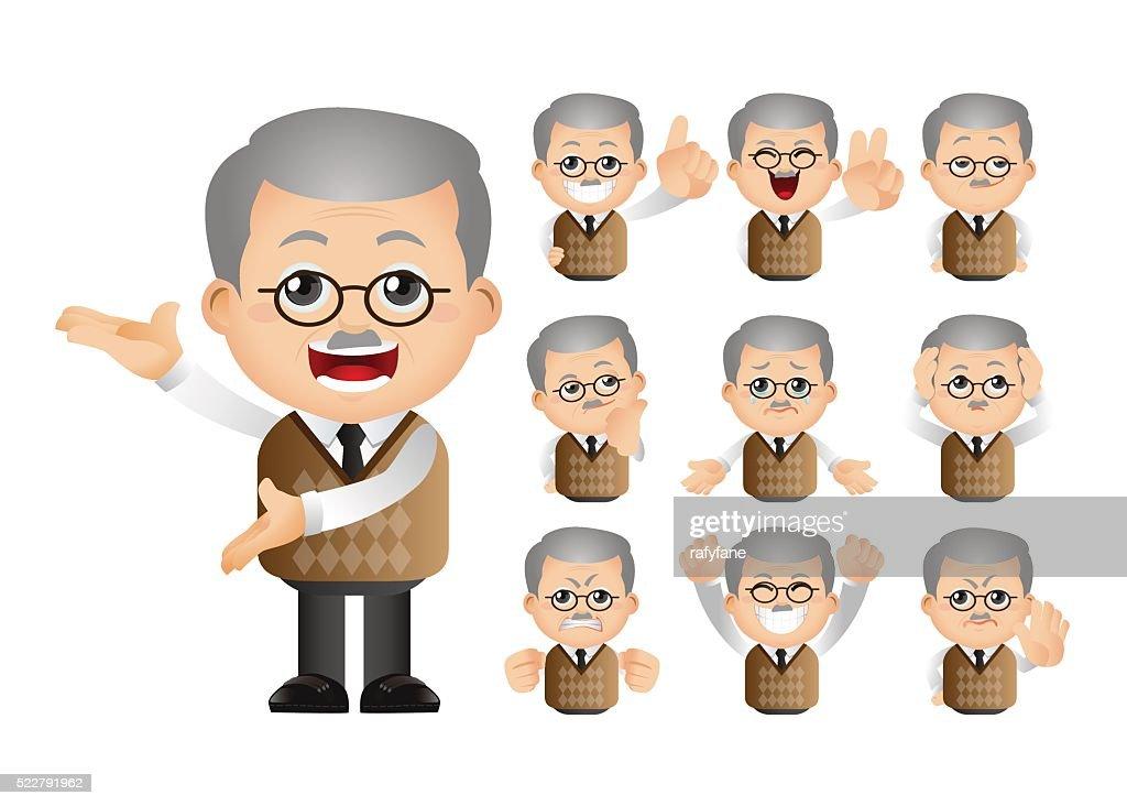Cute Set - Set of old people