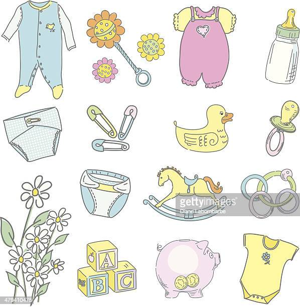 Cute Sketchy baby Icons