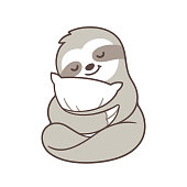 Cute sleepy sloth