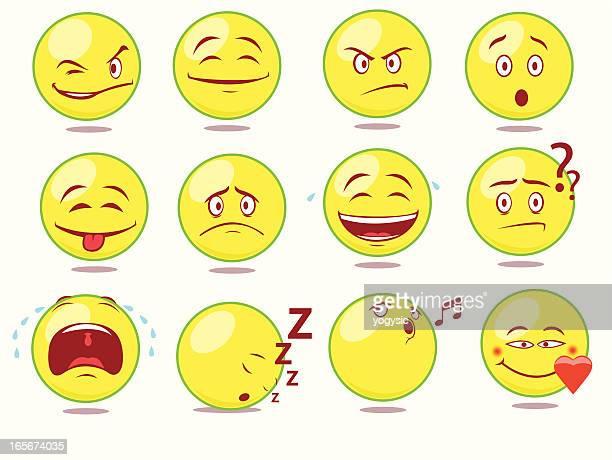 cute smileys - sneering stock illustrations, clip art, cartoons, & icons