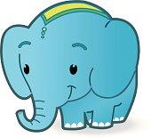 cute smiling Elefant.