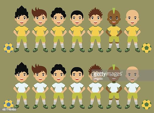 Cute Soccer Team