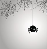 Cute spider and webs