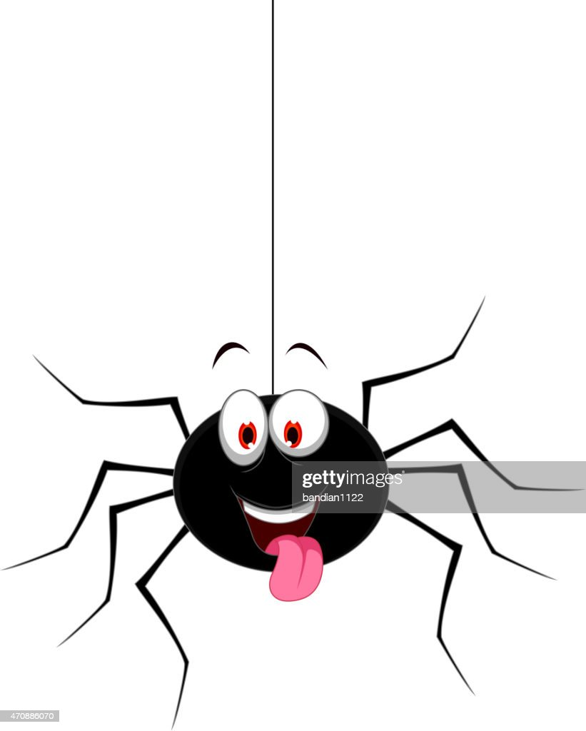 cute spider cartoon for you design