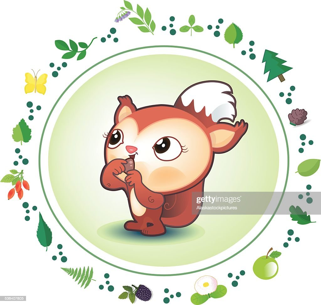 cute Squirrel (Forestborder)