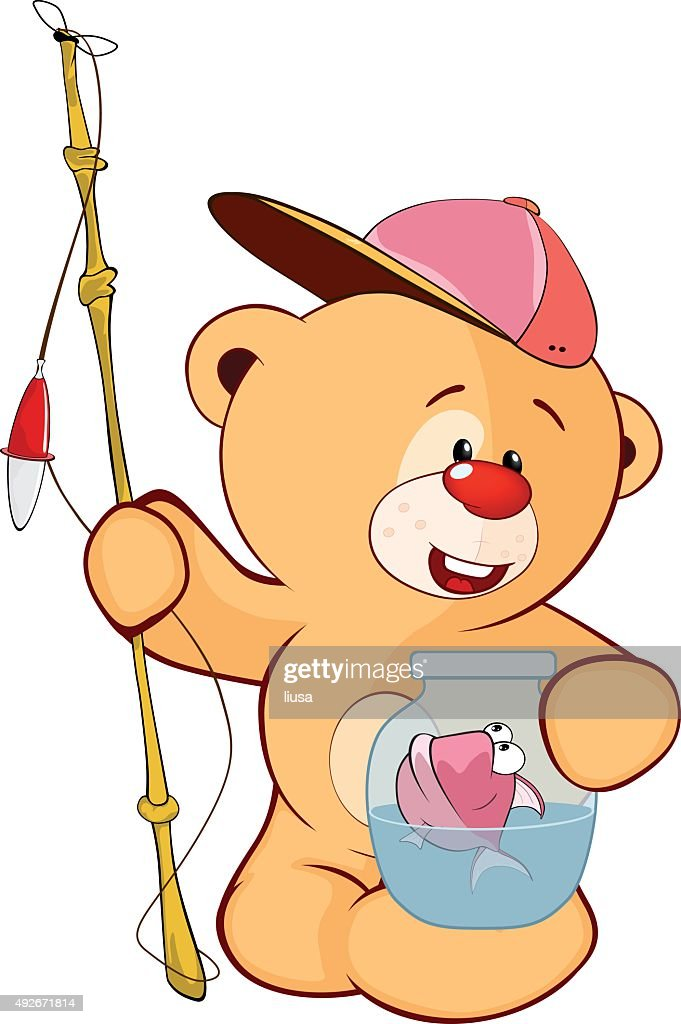 cute stuffed toy bear cub cartoon