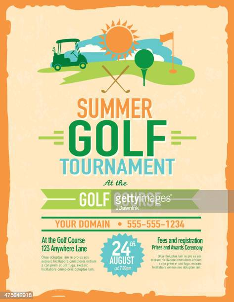 Retro summer golf tournament with golf cart invitation design similar images stopboris Choice Image