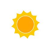 Cute sun icon.