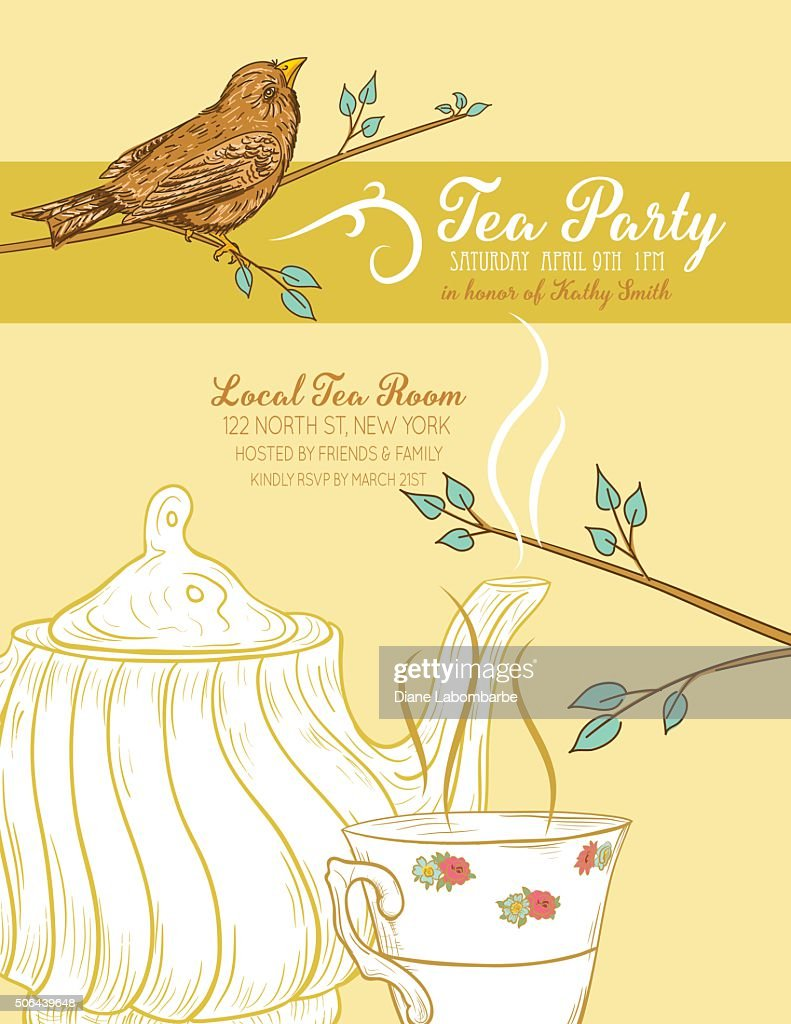 Cute teapot and cup bridal shower invitation vector art getty images cute teapot and cup bridal shower invitation vector art filmwisefo Gallery
