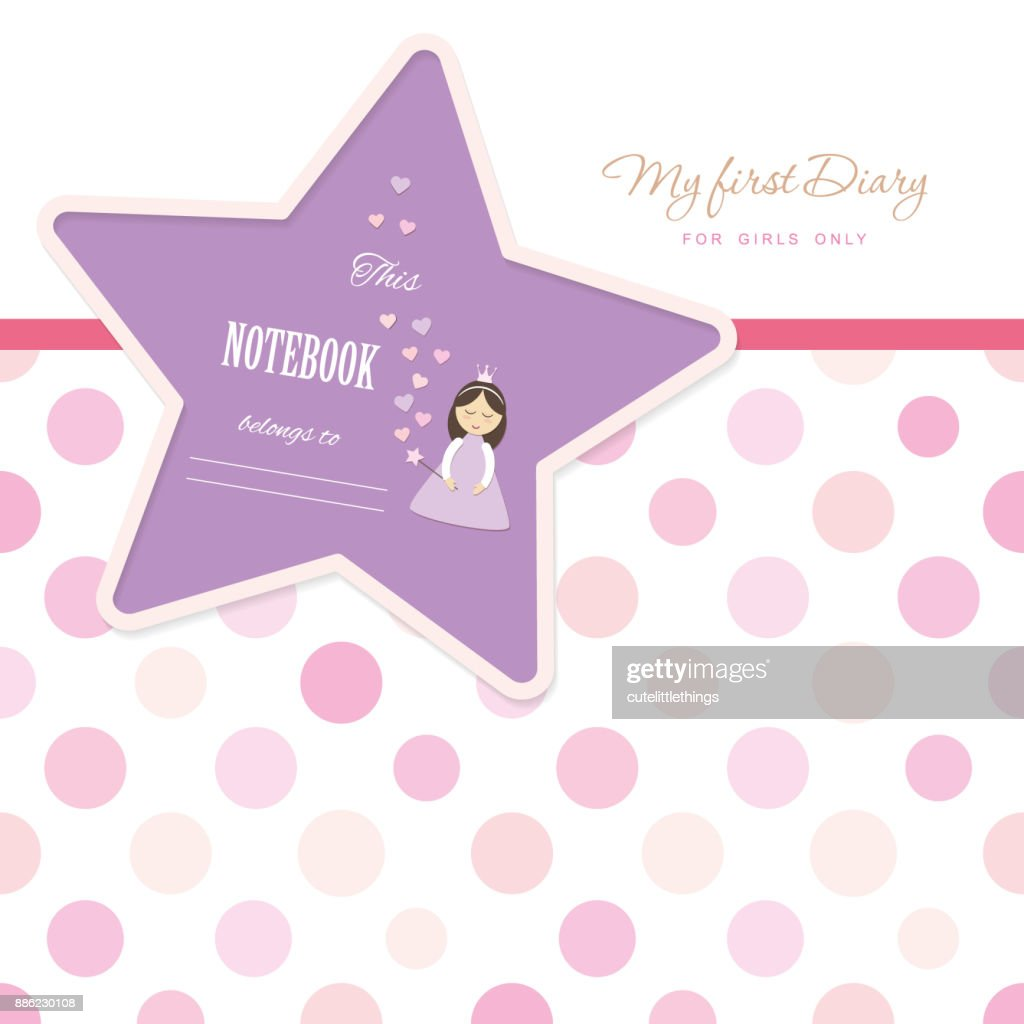Cute Template For Notebook Cover For Girls My First Diary Included
