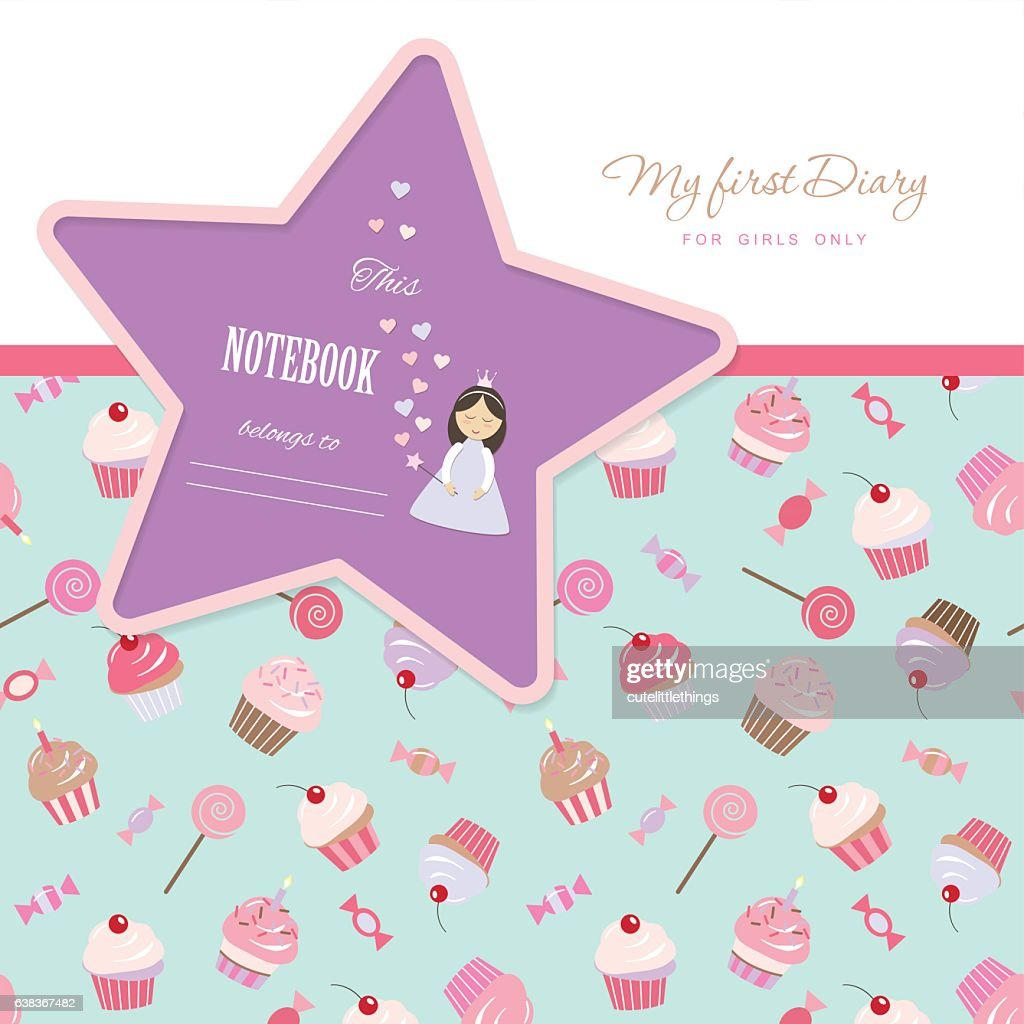 Cute Template For Notebook Cover Girls My First Diary Included