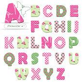 Cute textile font.