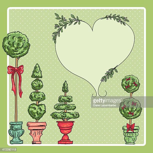 ilustrações de stock, clip art, desenhos animados e ícones de fofo tópia árvores de natal de fundo - planta de vaso