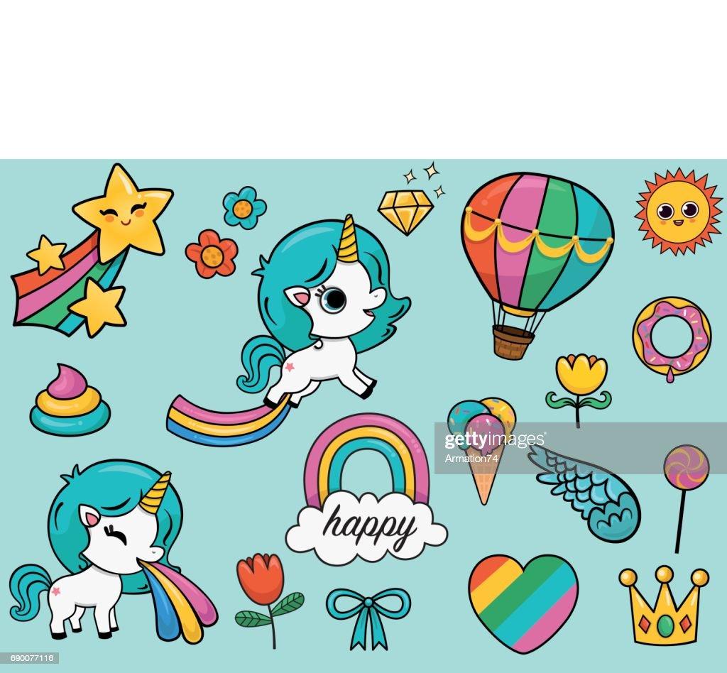 Cute Unicorn Set