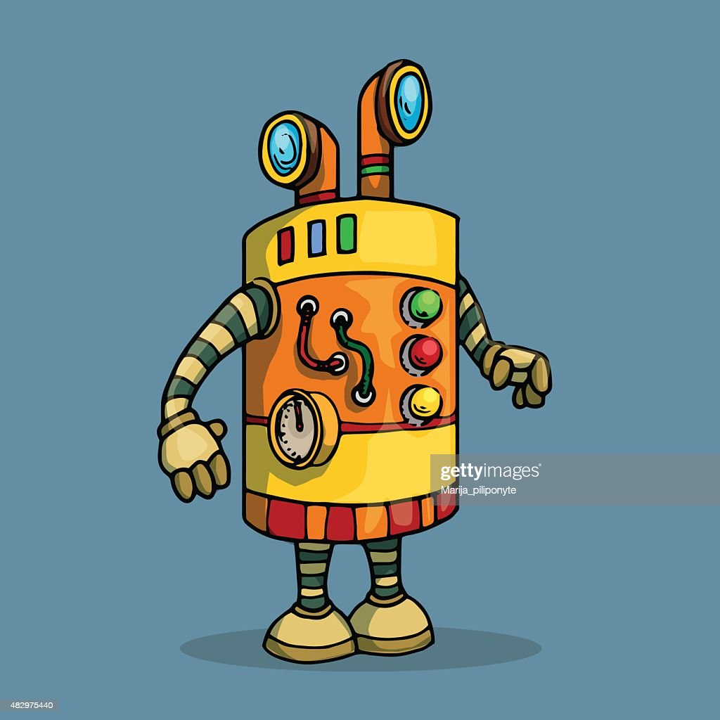 Cute unique robot character