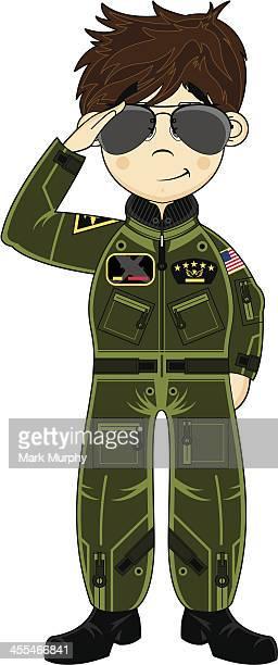 Cute USAF Pilot wearing Sunglasses