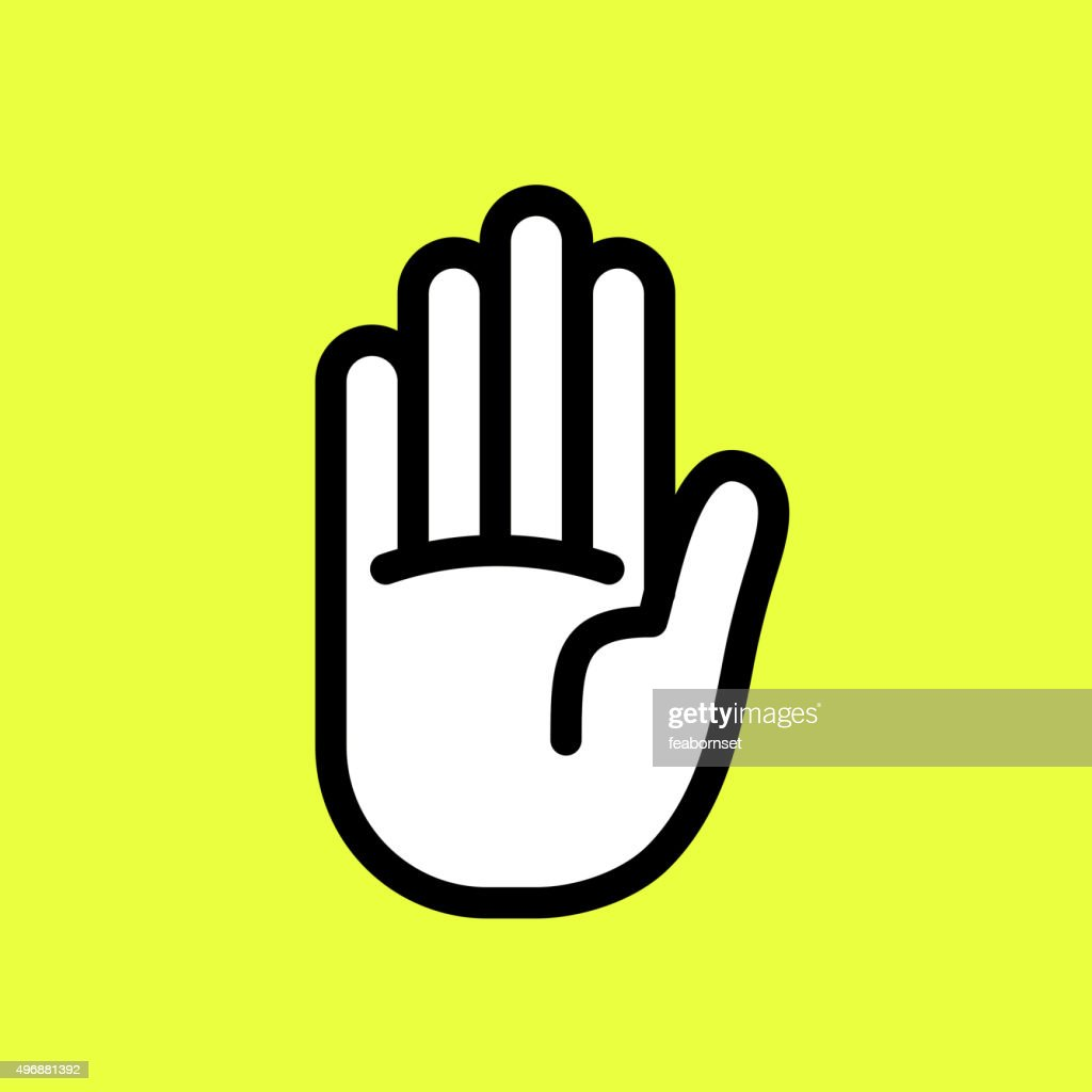 Cute vector graphic illustration of a hand