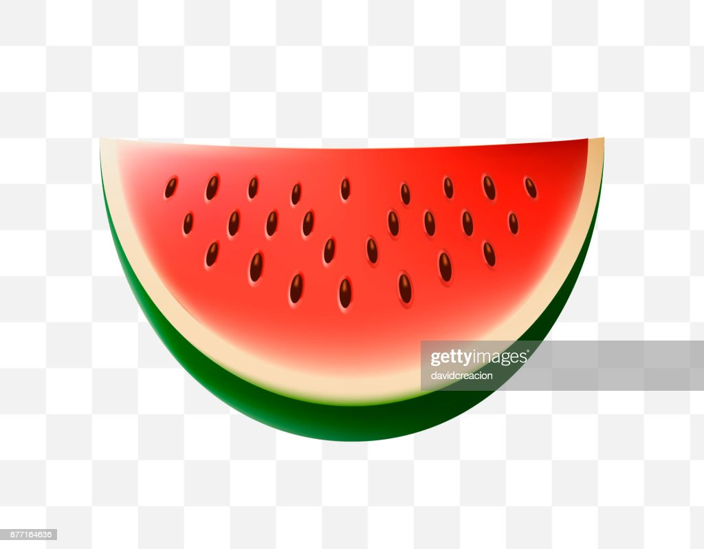 Cute Watermelon Icon On Transparent Background Stock Vector Getty