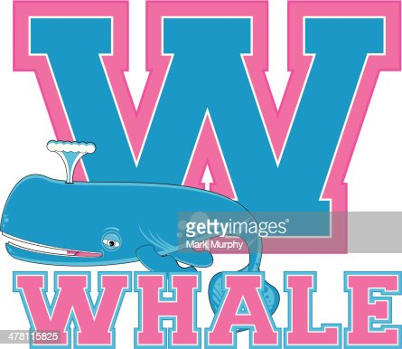 Cute Whale Learning Letter W Vector Art Getty Images