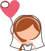 cute wife with shaped heart pumps avatar character