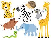 Cute Wild Animal Vector Illustration