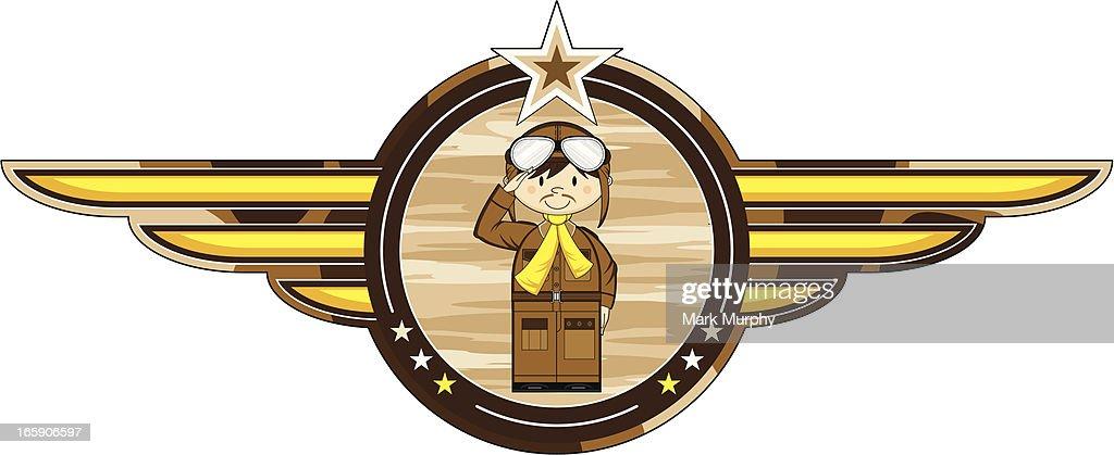 Cute WW1 Style Pilot Badge