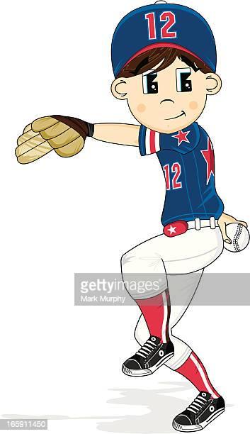 Cute Youth League Baseball Pitcher