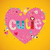 cutie heart shaped design
