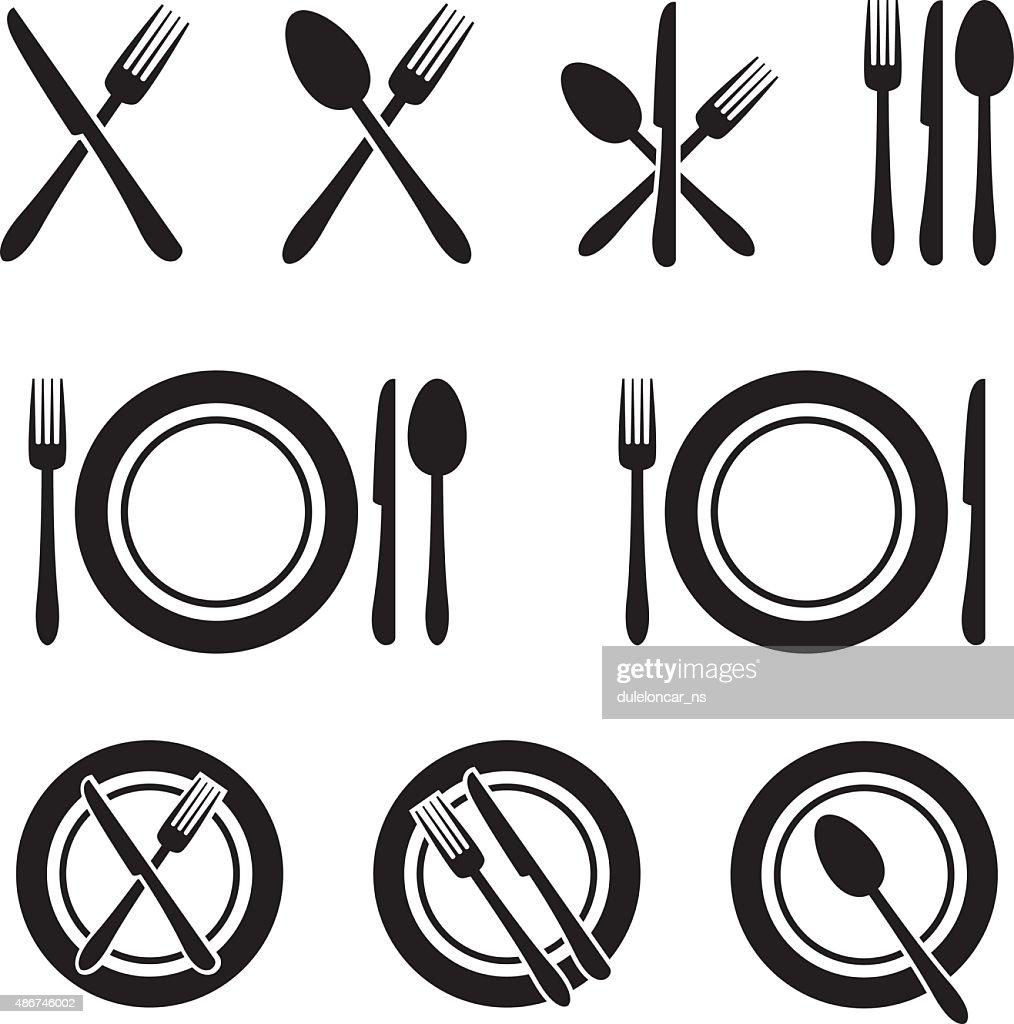 Cutlery Restaurant Icons Set