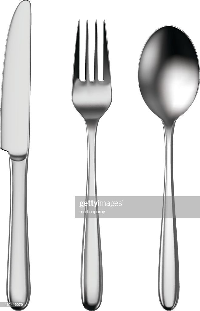 Cutlery set of utensils for eating