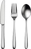 Cutlery set of utensils for eating