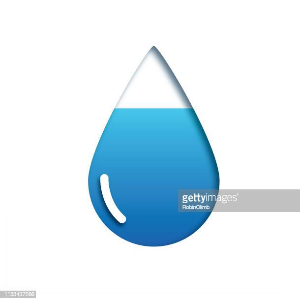 cutout water drop - water cycle stock illustrations, clip art, cartoons, & icons