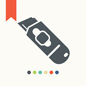 Cutter knife icon