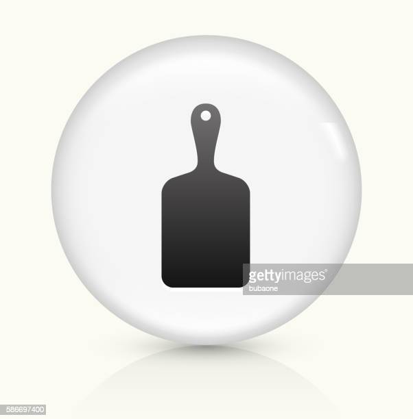 Cutting Board icon on white round vector button