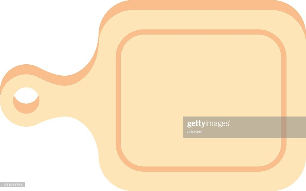 Cutting cooking board wooden kitchen toolv ector illustration