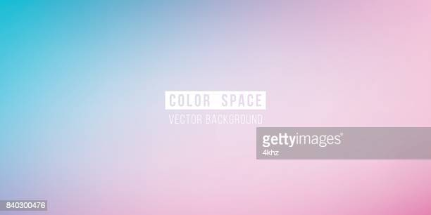 Cyan Pink Soft Color Space Defocus Smooth Gradient Background