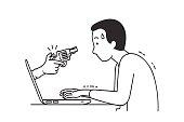 Cyber crime attack