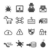 cyber crime icons