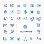 Cyber & Digital Security Icon Set