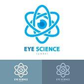 Cyber eye science symbol icon