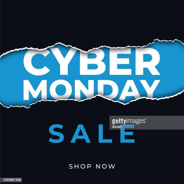 ilustraciones, imágenes clip art, dibujos animados e iconos de stock de diseño para publicidad, banners, folletos y flyers en cyber lunes. - black friday